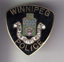RARE PINS PIN'S .. POLICE AMERIQUE CANADA BLASON DEVISE WINNIPEG MANITOBA ~DU