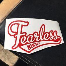 Fearless Nikki Bella Vinyl Decal Red Glitter WWE