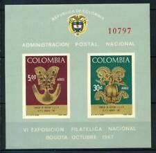 Colombie 1967 Mi. Bl. 28 Bloc Feuillet 100% ** SEAC Culture
