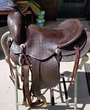 "Antique/Vintage 14 1/2"" Seat Simco Model 91 Western Saddle"