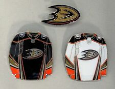 ANAHEIM DUCKS - SET OF 3 TOP QUALITY NHL LICENSED LAPEL PINS - ALL NEW!