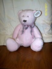 "Stephan Baby Pink Bear Plush 10"" With Tag"