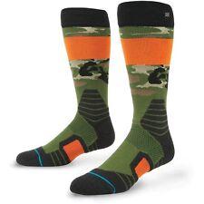 New Stance Legend Mens Merino Wool Blend Snowboard Socks Large Camo 9-12