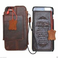 Genuine full brown leather case for apple iPhone 6s Plus wallet cover Removable