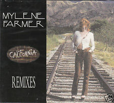 "CD MAXI MYLENE FARMER ""CALIFORNIA""REMIXES  DIGIPACK 6 T. OCCASION, TRES BON ETAT"