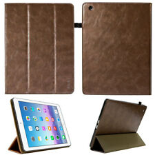 Premium Leder Cover für Apple iPad 2 3 4 Tablet Schutzhülle Case Tasche braun