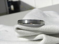 4mm Beveled Edge Titanium Silver Ring, Wedding Band, Mens, Ladies
