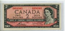 New listing 1954 Bank of Canada $2 Bank Note - # 2461 # 18
