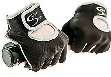 Sport Direct™ Bicycle Bike Lycra Track Gloves Mitts Black/Grey Large