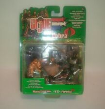 G.I.JOE VS COBRA NUNCHUK VS FIREFLY HASBRO 2002 NUEVO NEW