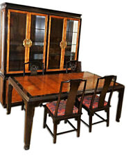 1970 CENTURY Chin Hua Dining Set Chairs Table Chairs China Cabinet Breakfront