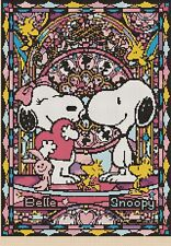 Snoopy & Belle Stained Glass 359 cross stitch chart Flowerpower 37-uk
