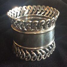 Huge Ornate Sterling Silver Napkin Ring Serviette Holder