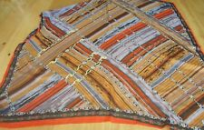 'GUL IPEK' used orange & rust polyester headscarf with sequins, aprox 108 cm