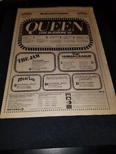 Queen, Iron Maiden, The Jam, Human League1982 Uk Concert Promo Poster Ad Framed!