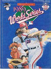 1989 World Series Program, Near Mint Condition