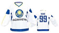 Team Kazachstan WHITE Ice Hockey Jersey Custom Name and Number