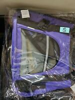 Paws & Pals Purple Pet Carrier, Small. Bring your dog or cat with you. NEW