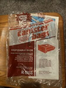 Sears Kenmore Canister Vacuum Cleaner Bags Style #20-5055 open package 12 Bags