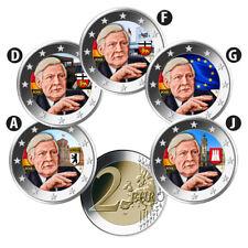 Deutschland 5 x 2 Euro 2018 Helmut Schmidt ADFGJ Satz Bankfrisch in Farbe