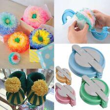 4 Size Pom pom Maker Fluff Ball Weaver Knit Needle DIY Tool Kit Bobble Craft Kj