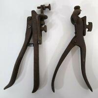 Lot 2 Antique Tools Saw Set Tool Morrill's 1B Patent 1880 S H Co No 11 Pat1891