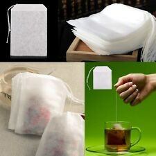 """100x Sachet Thé Vide Sac Filtre Infuseur Passoire Non-tissé Tea Bag 2x2.75"""" Mode"""