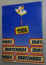 1986 Matchbox Sammler Katalog / International Ausgabe / 48 Seiten
