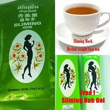 Slimming Herbal Tea Weight Loss Burn Fat Laxative Diet  x 400 Bags + 1 Rub Gel
