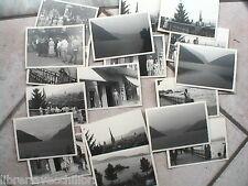 Lotto di 19 foto bn ZURIGO LAGO DEI QUATTRO CANTONI DI LUGANO 1959 SVIZZERA del