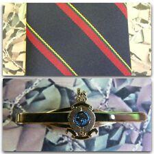 Royal Marines (Stripe) Tie & Tie Bar Set With ROYAL MARINE Tie Bar RM