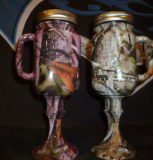 set of 2 camo redneck mason jar beer mugs