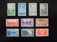 #740-749 1934 National Parks Year Issues  MNH OG