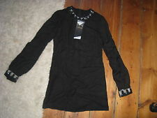 BNWT KATE MOSS BLACK MINI 60s DRESS , SEQUIN COLLAR & CUFFS. 6.TOPSHOP