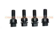 New Genuine Porsche Lug Bolt Set - Black (4x) for cars with 3-5mm spacers ONLY