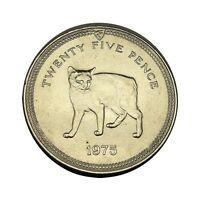 elf Isle of Man IOM 1 Crown 1975 Manx Cat