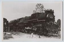 Chesapeake & Ohio 2-8-4 Class K-4  Locomotive  Real photo Postcard  RPPC