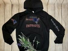 New Women's New England Patriots Hoodie Sweatshirt Sz Small Rhinestones Bling