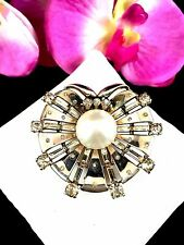 1947 CROWN TRIFARI PHILIPPE VERMEIL STERLING SPANGLE RS DREAM SHELL CLIP BROOCH