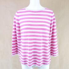HMK Suéter De Mujer ENNIE 36 Rosa rayada lana virgen Lana De Merino NP 179 NUEVO