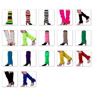 Leg Warmers Legging Socks Knitted Womens Ladies 80s Dance Disco Party Costume
