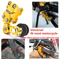 Aluminum Chain Tensioner Bolt On Roller Adjust Motorcycle Dirt Bike ATV Chopper