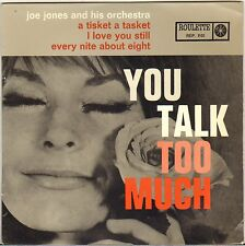 "JOE JONES ""YOU TALK TOO MUCH"" NEW ORLEANS SOUL 60'S EP ROULETTE 1101"