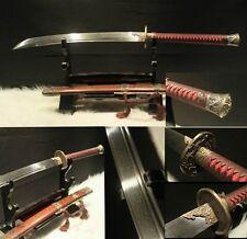Handmade Chinese sword Damascus pattern steel katana sharp#0019