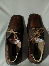 Placido Faux Alligator Dress Shoes Men's Size 13 Leather Heel Collar Cushioned