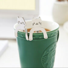 1PC Cute Cat Spoon Long Handle Spoons Flatware Drinking Tools Kitchen Gadgets