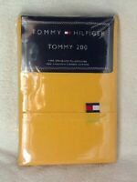 Set of 2 Tommy Hilfiger Standard Size Cotton Pillowcases SUNSHINE YELLOW NEW NWT