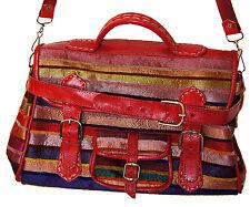 Moroccan Leather Handbag purse Women Shopping Bag Clutch Sabra Red Handmade