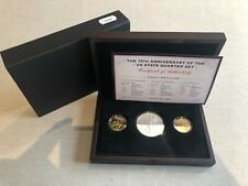 More details for the 15th anniversary of the us state quarter set 3 coins + coa