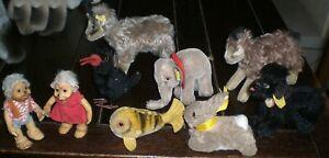 VERY NICE OLD LOT of 9 STEIFF ANIMALS